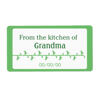 Green Food Label Shipping Label
