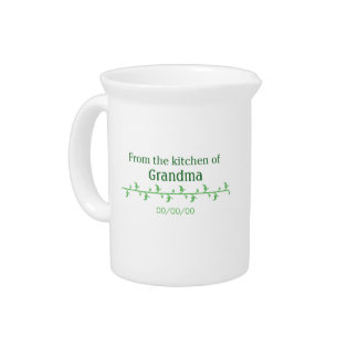 Green Food Label Pitcher
