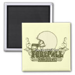 Green Football Hardcore Tshirts and Gifts Refrigerator Magnet