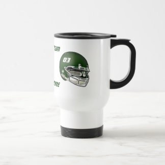 Green Football Helmet Coffee Mug