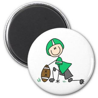 Green Football Player Magnet