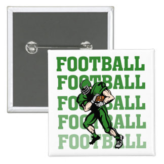 Green Football Player T-shirts and Gifts 15 Cm Square Badge