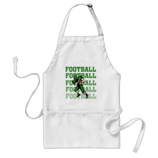 Green Football Player  Tshirts and Gifts Standard Apron