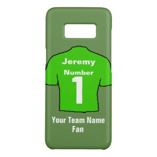 Green Football Shirt Customise name & team Case-Mate Samsung Galaxy S8 Case