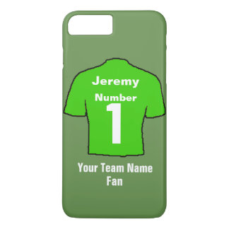 Green Football Shirt Customise name & team iPhone 8 Plus/7 Plus Case