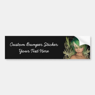 Green Forest Fairy 3D Close-Up Bumper Sticker