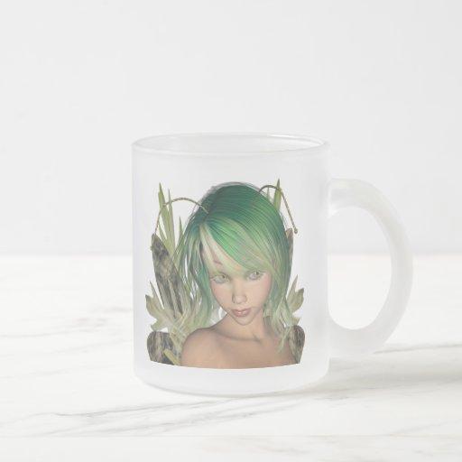 Green Forest Fairy 3D Close-Up Mug