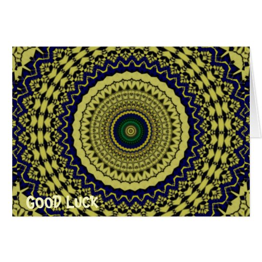 Green Forest Kaleidoscope Art Cards