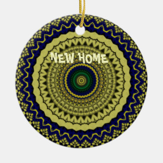 Green Forest Kaleidoscope Art Christmas Ornament