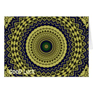 Green Forest Kaleidoscope Art Greeting Card