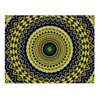 Green Forest Kaleidoscope Art Post Card