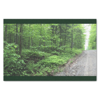 Green Forest With Stone Path Tissue Paper