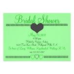 Green Formal Bridal Shower Invitation