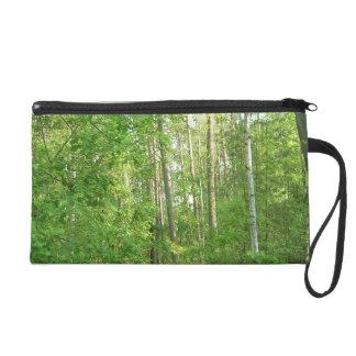 Green Forrest Wristlet