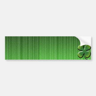 Green Four Leaf Clover Bumper Sticker