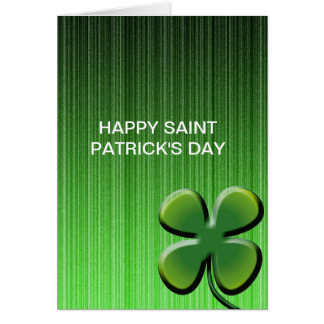 Green Four Leaf Clover Card