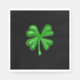 Green Four Leaf Clover Shamrock Paper Serviettes