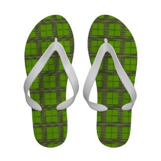 Green FourSquares Sandals