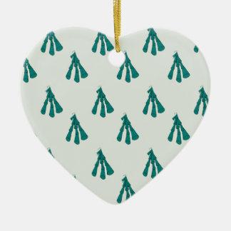 Green foxglove christmas ornament