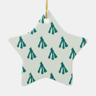 Green foxglove christmas ornament