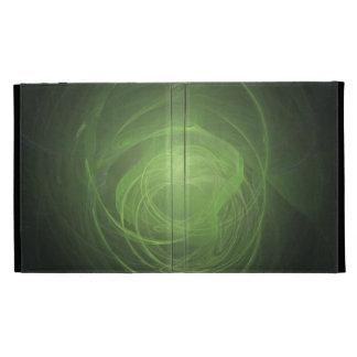 Green Fractal iPad Folio Cover