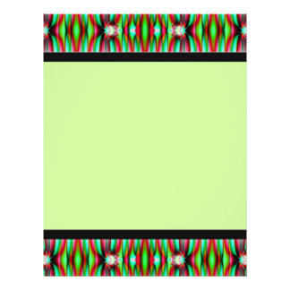 green fractal full color flyer