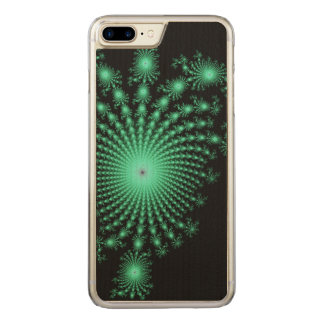 Green Fractal Islands on Black - abstract art Carved iPhone 7 Plus Case
