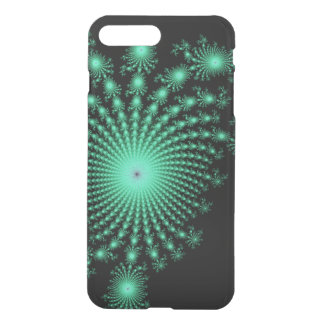 Green Fractal Islands on Black - abstract art iPhone 7 Plus Case