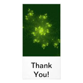 Green Fractal Photo Card Template