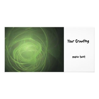 Green Fractal Picture Card