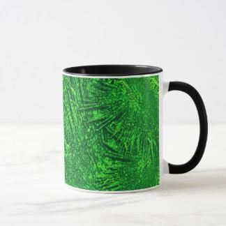 Green fractal texture. mug