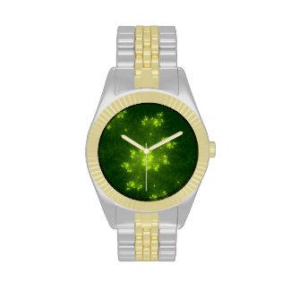 Green Fractal Wrist Watch