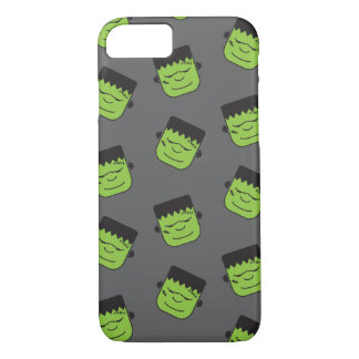 Green Frankenstein heads pattern Halloween iPhone 7 Case