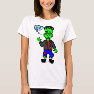 Green Frankenstein's Monster Boy Walking T-Shirt