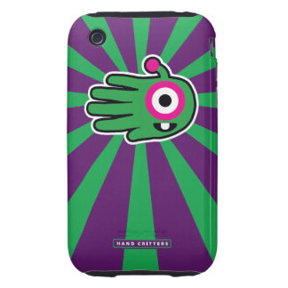 Green Friendly Alien Baby Tooth Tough iPhone 3 Cover