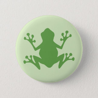 Green Frog 6 Cm Round Badge