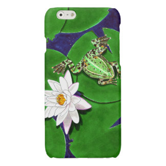 Green Frog and Water Lily iPhone 6/6s Case iPhone 6 Plus Case