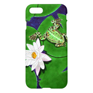 Green Frog and Water Lily iPhone 7 Case