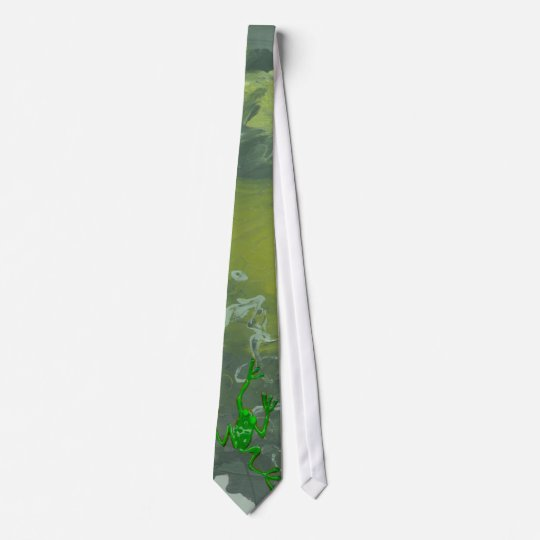 GREEN FROG by SHARON SHARPE Tie