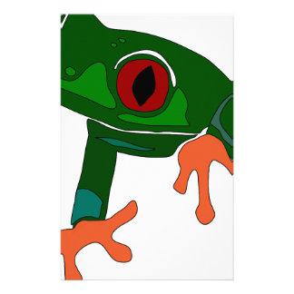 Green Frog Cartoon Stationery