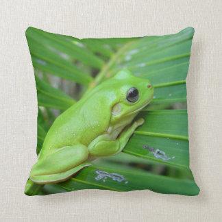 Green Frog Cushion