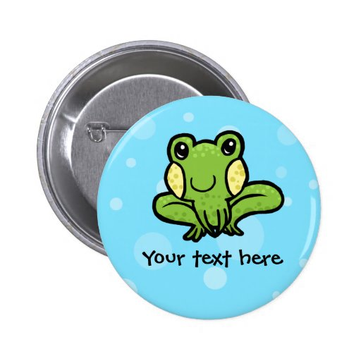 Green frog customisable button badge