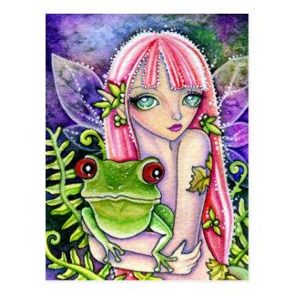 Green Frog Elf - Postcard