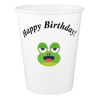 Green Frog Happy Birthday