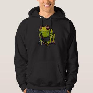 Green frog hoodie