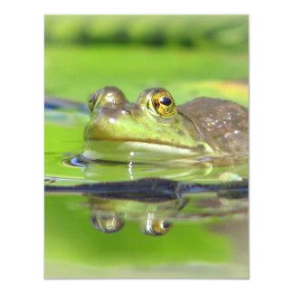 Green Frog Invitation