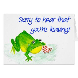 Green Frog Leaving Card