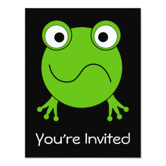 Green Frog. Looking confused. Card