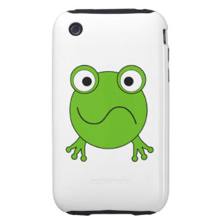 Green Frog. Looking confused. Tough iPhone 3 Cases