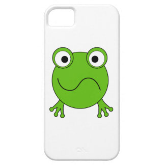 Green Frog. Looking confused. iPhone 5 Cases